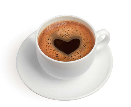 coffe cup with heart photo