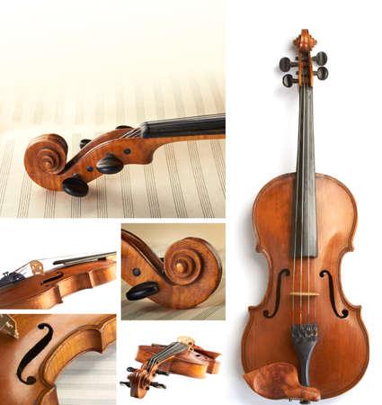 musica clasica: violín collage Foto de archivo
