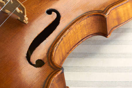 stringed: violin macro Stock Photo
