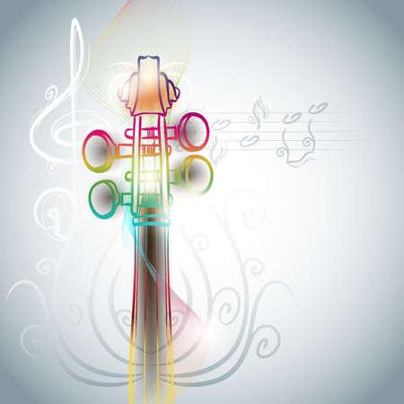 the symphony: violin backgorund in line art style