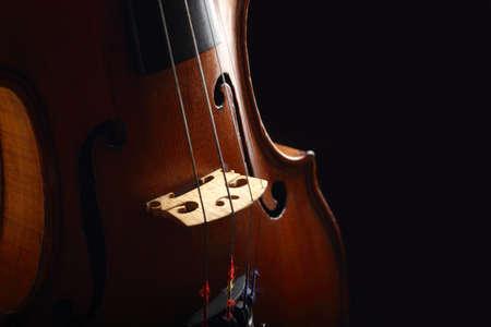 old violin on black background  Stock Photo - 17385758