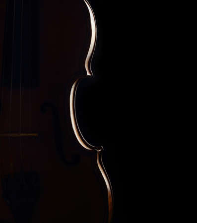 violin contour on dark background Stock Photo - 17385755