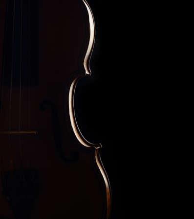 violin contour on dark background Stock Photo - 17385755