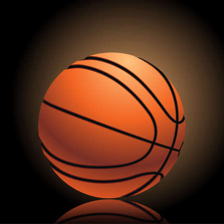 basketball on dark background with dramatic light Stock Vector - 17452739