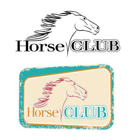 hand drawn symbol of horse club Stock Vector - 17452738