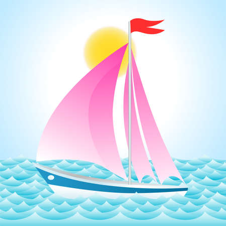 yacht on the sea Stock Vector - 17452756