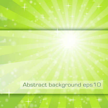 abstract background with fresh green rays Stock Vector - 17452791