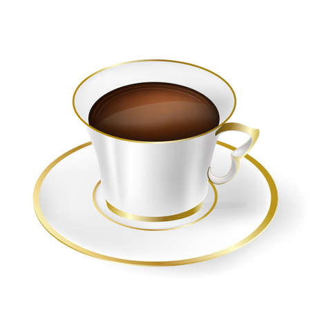 white cup with black coffee Stock Vector - 17452789