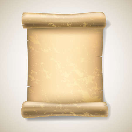 realistic ancient scrolls Vector