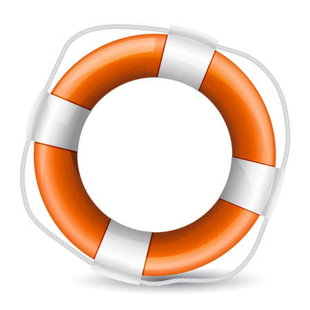 realistic illustration of life buoy Stock Vector - 17690136