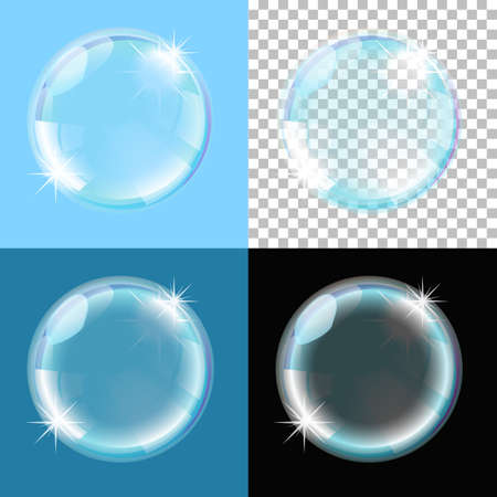 bubble on different types of background Stock Vector - 17690237