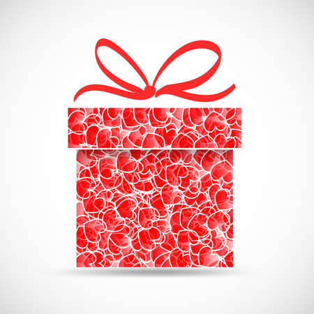 abstract gift with heart texture Stock Vector - 17690242