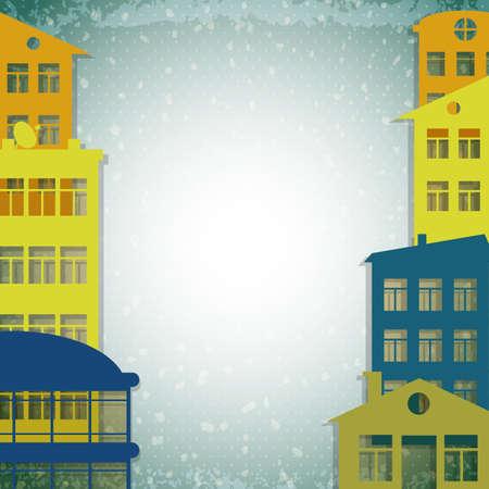proprietor: apartmert houses on vintage background
