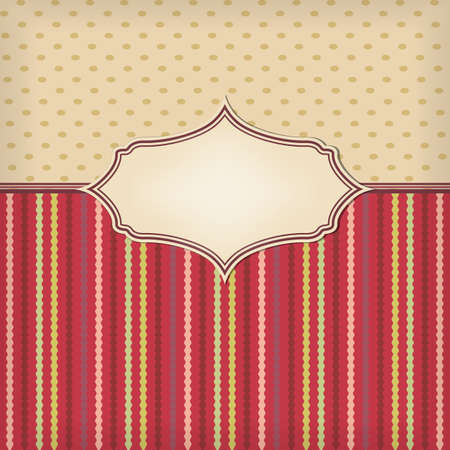 retro background with texture and frame Stock Vector - 17690214