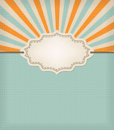 retro blue background with texture and frame Stock Vector - 17690234