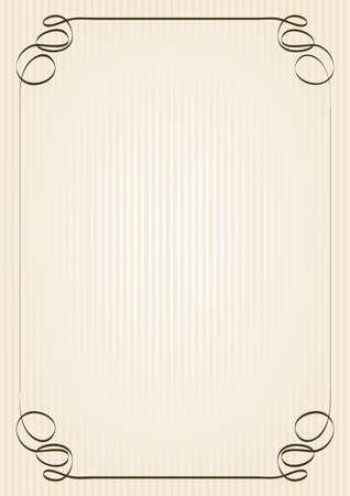 retro frame on yellowish background Stock Vector - 17690129