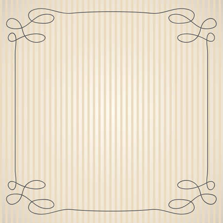 vintage background with simple swirly frame Vector