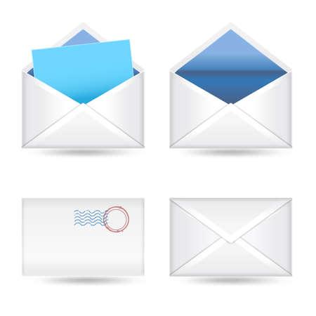 set of  envelopes on white