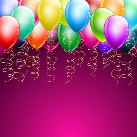colorful balloons as top border