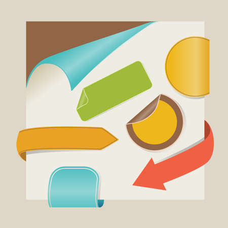 new items with retro colors Vector