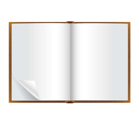 open diary: open book with blank pages Illustration