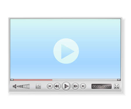 windows media video: media player in light colors