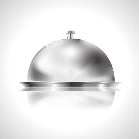 hunger: tray as restaurant icon Illustration