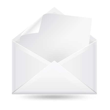 blanc: sobre de correo con blanc leetter
