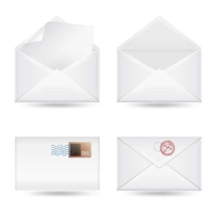 set of envelopes on white background Stock Vector - 18166086