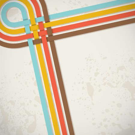 retro abstract background with stripes Фото со стока - 18246460