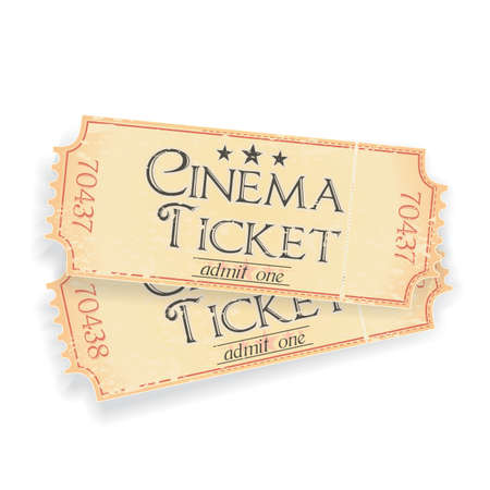 pair of vintage cinema tickets Vector