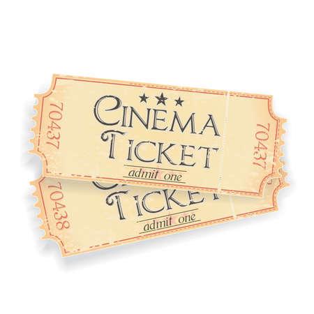 admittance: pair of vintage cinema tickets