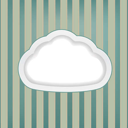 yellowish: retro background with cloud