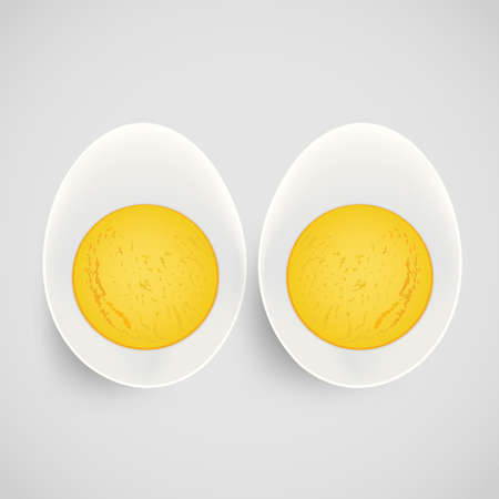 boiled: boiled egg with yolk Illustration