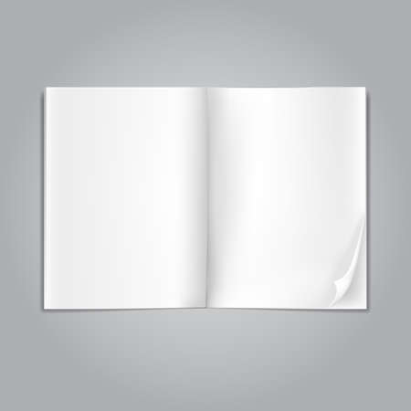 open blank magazine pages on grey Stock Vector - 18375157