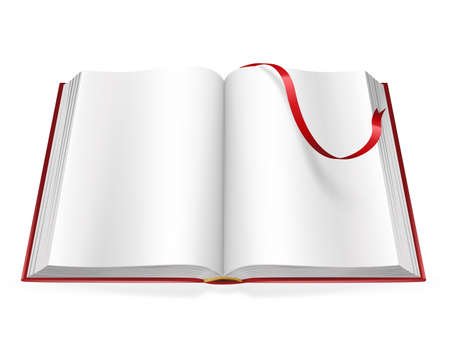 chapter: open book with blank pages and sign