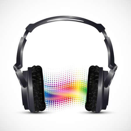 musical headphones with equalizer  Illustration