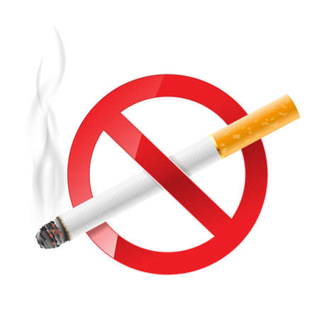 no problems: no smoking sign
