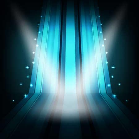 ライトとストライプの背景を表示します。