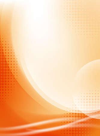 ハーフトーン抽象的な光オレンジ流れる背景  イラスト・ベクター素材