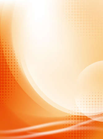 abstract light orange flowing background with halftone Vector