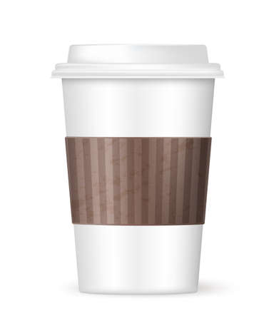 coffee to go: white coffee to go cup