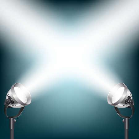 spot lights: blue background with spot lights