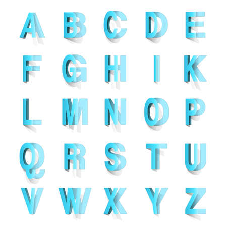 typeset: abc set cut out on white