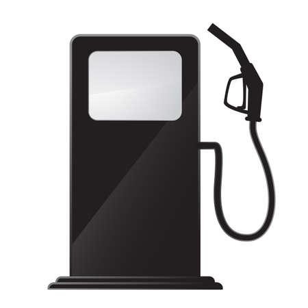 pompe: stazione di servizio icona Vettoriali