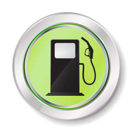 refuel: gas station button Illustration