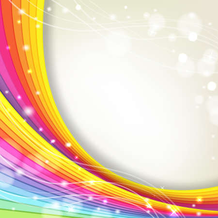 rainbow stripe: background with rainbow colors and sparkles Illustration