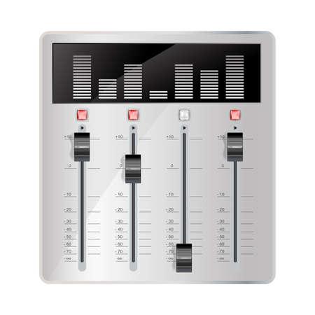 mixing board: audio mixing panel