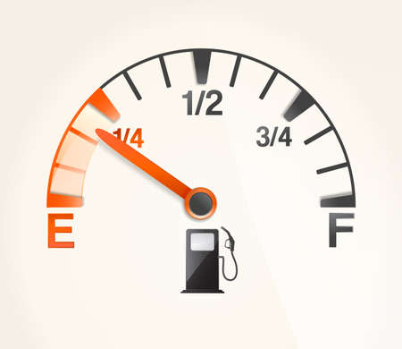gas tank with empty horizontal full signs  Illustration