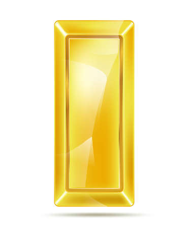 golden bar with reflections Vector